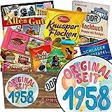 Original seit 1958 | Schokoladen Paket | Geschenk Ideen | Original seit 1958 | Schokoladenbox | Geschenke zum 60 Geburtstag für Papa | INKL DDR Kochbuch
