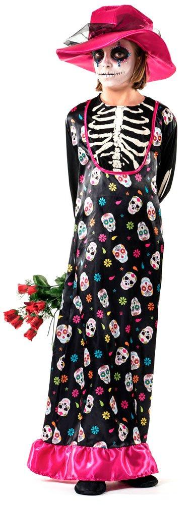 Comprar Disfraz De Catrina Para Niña - Tiendas Online Disfraces para Halloween niñas - Varias Tallas - Envíos Baratos o Gratis