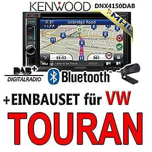 Kenwood pour vW touran dNX4150DAB 2–dIN navigationsradio mHL autoradio dAB uSB avec kit de montage