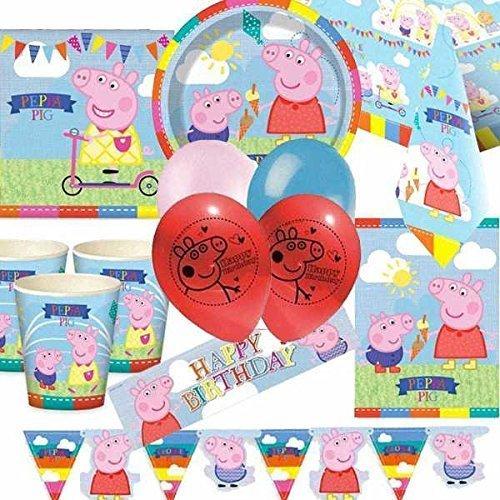 Peppa Pig Deluxe Accessori Per Feste (per 16 persone)