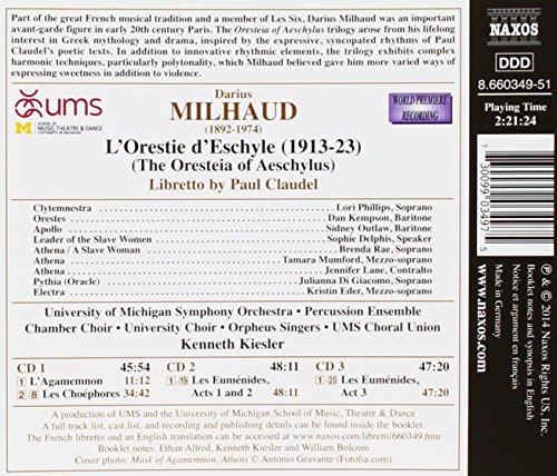 Milhaud : L'Orestie d'Eschyle