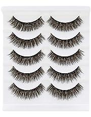 Bepholan 3D Faux Mink Lashes Mink Eyelashes Strip Eyelashes False Eyelashes Beauty Pack Hand Made Reusable Invisible Band Soft Thick Long Eyelashes Fashion for Women's Make Up
