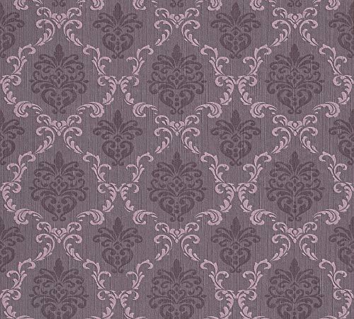 Architects Paper 956295 Textiltapete Tessuto Tapete mit Ornamenten barock, lila, 10,05 m x 0,53 m