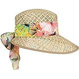 LIPODO Sombrero de Paja Carina Mujer - Made in Italy Gorra Sol Verano Visera para el con Primavera/Verano