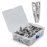 VIPbuy 60 pièces en acier inoxydable pinces à linge en métal vêtements pinces broches clips avec boîte de rangement pour…