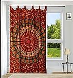 Indische Baumwolle Tapisserie Vorhänge, Boho Vorhänge, Xmas Geschenk Mandala Drapes, Mandala, indische Vorhänge Mandala Wandbehang Fenster Behandlung Door Hanging