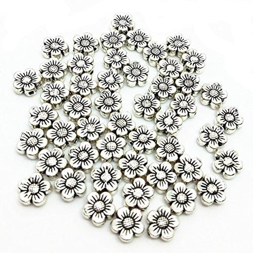 Wholesale Mardi Gras Beads (qtmy 50PCS 2mm macroporous Blume Spacer Perlen für Schmuck-Herstellung in)