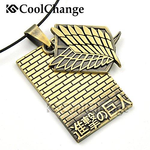 CoolChange Attack on Titan Halskette mit Aufklärungstrupp und Mauer Anhänger