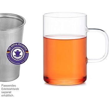 c42ff221890907 Verre, Gobelet, Tasse, Verre à thé et à café tasse en verre borosilicate  résistant à la chaleur (500 ml) - main et hochtransparent - GAIWAN® GERMANY