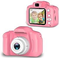 VikriDa Digital Camera, Recorder Camera 800W HD 2.0 Inch Screen Video Front Camera for Children (Pink)