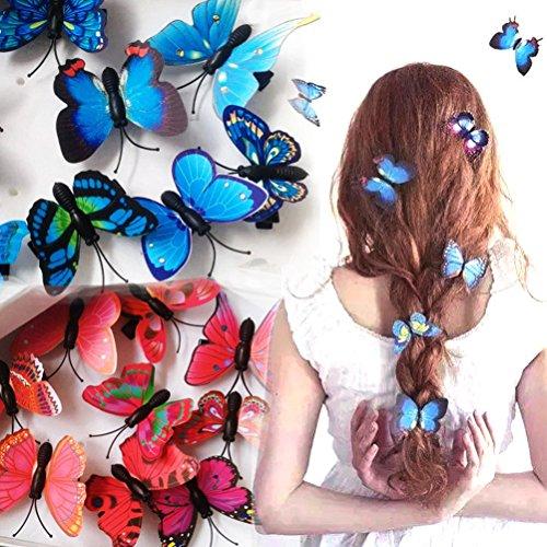 cuhair 100(5rot und 5blau) Schmetterling Frauen Girl Haar-Clip Pin Claw Haarspangen Zubehör
