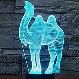 Kamel 3D optische LED Illusion Lampen, FZAI 7 Farbe blinkende Kunst Skulptur Lichter Schlafzimmer Schreibtisch Tisch Nacht Licht Awesome Geschenke