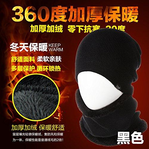 FQG*L'INVERNO HAT marea Autunno Inverno maglione Knit Hat cap lana trapunte kit cappuccio di testa (Patterns Knit Bambini Cappelli)