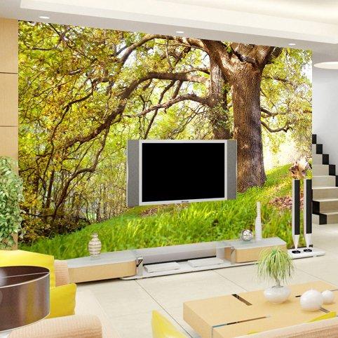 Wongxl Große Wandbilder Der Szenischen Wälder 3D Tv Wandschlafzimmer Hyun Weg Von Der Hintergrundtapetenwand 3D Tapete Hintergrundbild Fresko Wandmalerei Wallpaper Mural 400cmX300cm - Weg Wallpaper