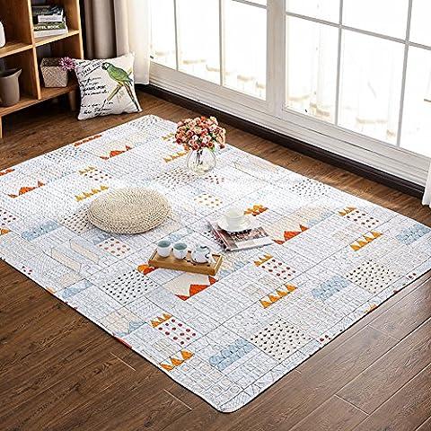 Japanischen Stil, Tatami Teppiche–memorecool Haustierhaus 100% Baumwolle Frische Gefühle Gesunde Home Living Decor anti-slipping Teppiche Wohnzimmer Schlafzimmer kriechen Mats, baumwolle, 5740, 3