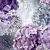 Artland Qualitätsbilder I Wandtattoo Wandsticker Wandaufkleber 80 x 80 cm Botanik Blumen Hortensie Collage Blau C7QT Blau und Grau Hortensie- Blütentraum im Sommer