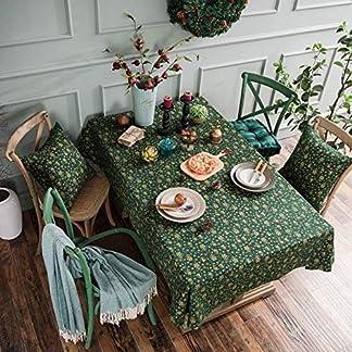 Navidad Verde Estampado En Caliente Mantel Campanilla De Viento Estilo Japonés Impreso Algodón Y Lino Mesa De Vacaciones Paño De Tela Mesa De Café Rectangular Manteles
