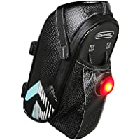 UDee Bicycle Frame Seat Saddle Bag Water Holder with Tail Light