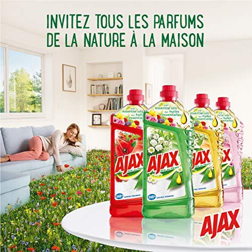 Ajax Produit Ménager Entretien, Nettoyant Sol Multi-Surfaces, Fête des Fleurs, Fleurs d'Oranger, 1,25 L - lot de 4