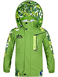 d7ce2c352eee Koo-T Boys Raincoat Fleece Lined Jacket Windproof Waterproof Sports Camping