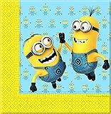 Procos 87178–Servilletas papel Minions, 20unidades, amarillo/azul