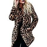 FRAUIT Frauen Herbst Winter Wollmantel Damen Jacke Langarm Leopard Print Pullover Fleecejacke Sweatjacke Jacke Mode Wunderschön Design Persönlichkeit Elegant Streetwear Kleidung Bluse Tops S-2XL