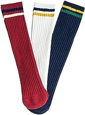 BEBIG Children's Stockings Cartoon Striped Socks Set Three Pairs of Sales