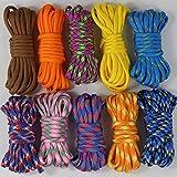 UOOOM 10pcs Multicolore Multifonction Paracordes pour Parachute Bracelet (Multicolore 10pcs)