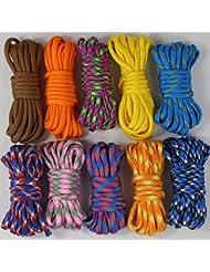 UOOOM 10pcs Multicolore Multifonction Paracordes pour Parachute Bracelet