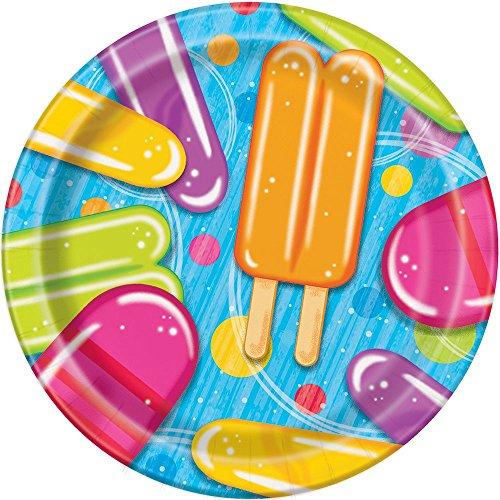 18cm Popsicle & EIS Sommer Party Teller, 8Stück