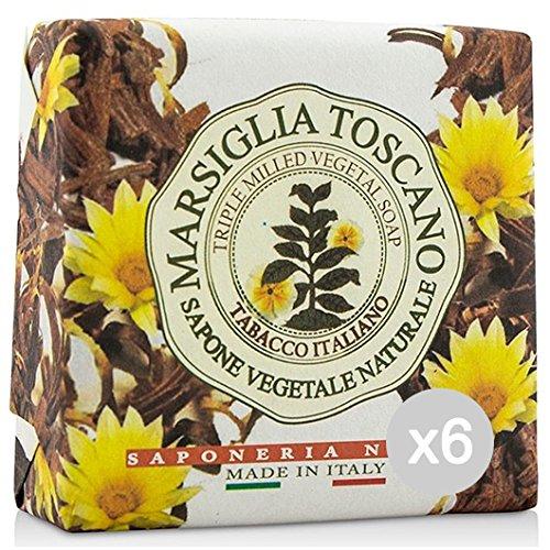 Set 6Edelreisern Seifenschale Toscano Tabak Italienisch 200Pflege und Reinigung des Körpers