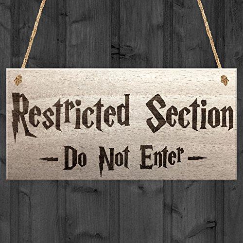 Rot Ocean geschützten Bereich Do Not Enter Zauberei Aufhängen Plakette Magic Geschenk Schild