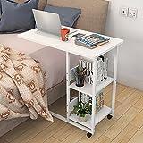 Laptopständer DD Computertisch Am Bett Einfach Bett Schreibtisch Einfach Faule Tabelle Es Kann Sich Bewegen Mehrere Seiten Fahrbarer Tisch -Werkbank (Farbe : Weiß)