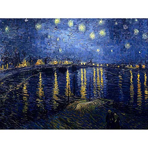 Wee Blue Coo LTD Vincent Van Gogh Starry Night 1888 Old Master Painting Art Print Poster Wall Decor Kunstdruck Poster Wand-Dekor-12X16 Zoll -