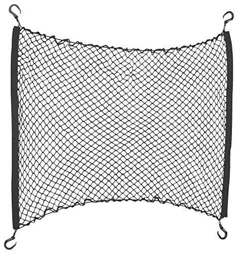 HRimotion hochwertiges Kofferraumnetz mit elastischer Randschnur [800mm x 900mm , inkl. Haken & Befestigungsset , Hochwertiger Spinnstoff]  10511401