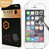iPhone SE/5C/5S/5 Pellicola Protettiva, Yica 2 Pack Pellicola Protettiva in Vetro Temperato per iPhone SE/5C/5S/5 Compatibile Pellicola Protettiva ultra resistente in vetro temperato per iPhone SE/5C/5S/5 Vetro con Durezza 9H Spessore di 0,25 mm Trasparente ad alta definizione