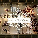MAYOGO Dekoration Weihnachten Fenster Glas,Innen-Wand und Tür Aufkleber Wandaufkleber-Merry Christmas-Englisches Alphabet Aufkleber Deko