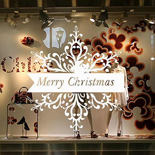 Kostüm Kinderbuch Figur Einfach - MAYOGO Dekoration Weihnachten Fenster Glas,Innen-Wand und Tür Aufkleber Wandaufkleber-Merry Christmas-Englisches Alphabet Aufkleber Deko