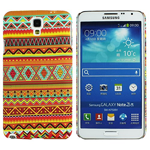 Heartly Aztec Tribal Art Printed Design Retro Color Armor Hard Bumper Back Case Cover For Samsung Galaxy Note 3 Neo N7500 N7505 - Vintage Orange  available at amazon for Rs.149