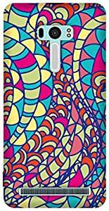 The Racoon Grip Colourful Blur hard plastic printed back case / cover for Asus Zenfone Selfie ZD551KL