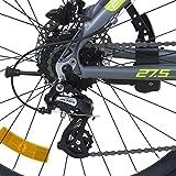 Galano 650B+ 27,5+ Zoll MTB INFINITY Mountainbike Scheibenbremsen Shimano 27,5x3.0 Fatbike, Farbe:grau/grün für Galano 650B+ 27,5+ Zoll MTB INFINITY Mountainbike Scheibenbremsen Shimano 27,5x3.0 Fatbike, Farbe:grau/grün