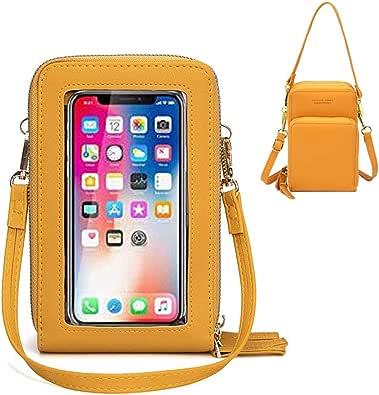 """Brinny Borsa a Tracolla per Cellulare in Pelle Leggera per iPhone 7/8/X Plus XR 11 PRO, Samsung S5 / S6 / S7 a 6.5\"""""""