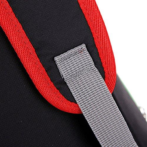 Chest Pack Taschen Schleuder Tasche Taille Tasche Hüfttasche Sling Rucksack Sporttasche Umhängetasche Backpack Strap Beutel für Radfahren Wandern nylon multied-color - by LC Prime® Rote