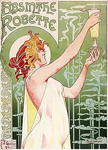 T. Privat-Livemont – Absinthe Robette 1896 Kunstdruck (60,96 x 91,44 cm) (Absinthe T)