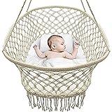 DYHQQ Babybett Cradle, Hängende Stubenwagen und Tragbare Schaukel Für Baby Nursery, Macramé Seil...