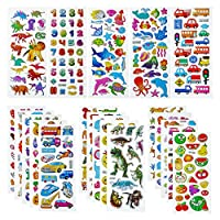 3D Stickers for Kids, 520+ Puffy Stickers for Scrapbooking Teacher Reward Birthday Party Bags Fillers, 25 Sheets