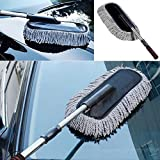#9: Car Cleaning Wash Brush Dusting Tool Large Microfiber Telescoping Duster (Multi color)