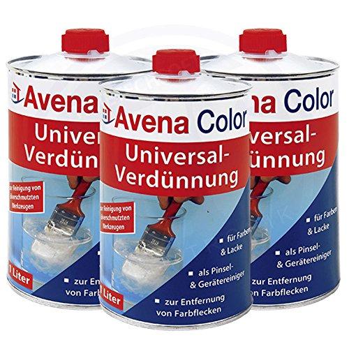 Preisvergleich Produktbild 3 x Avena Color Universal-Verdünnung 1 Liter