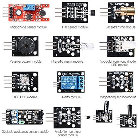 XCSOURCE Relais Capteur kit de Démarrage Module Capteur Kit LED RGB pour Arduino + MCU avec Guide d'utilisation TE273