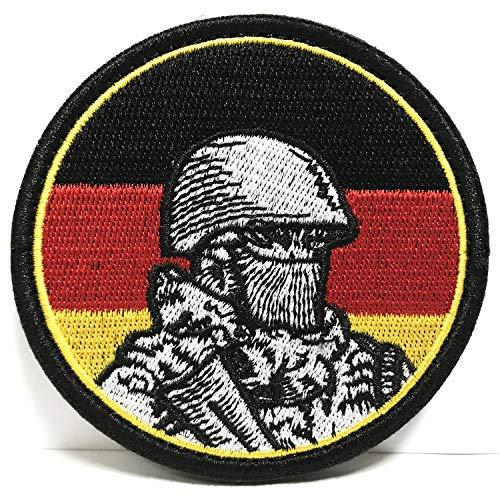 Colisal Klett Patch Airsoft Patch Klett für Rucksäcke Militär Patches Aufkleber Abzeichen Klettbänder (Deutschland Soldat)